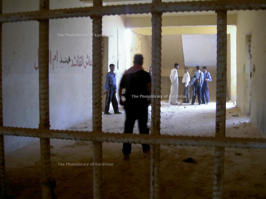 Iraq 2007  <br />The Nigrat Salman prison in the desert of Busaya , near the Saudi border. It was the last  station for some of  Anfal victims before their execution.  <br />Irak 2007 <br />La prison de Nigrat Salman dans le desert de Busaya. Dernier lieu de rétention pour certaines victimes de l'Anfal avant leur execution