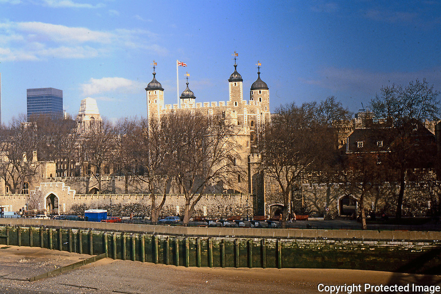 London: Tower of London from Tower Bridge.