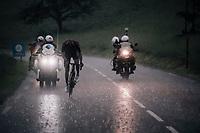 Gianni Moscon (ITA/Ineos) forcing his way through the torrential rain<br /> <br /> Stage 7: Saint-Genix-les-Villages to Pipay  (133km)<br /> 71st Critérium du Dauphiné 2019 (2.UWT)<br /> <br /> ©kramon