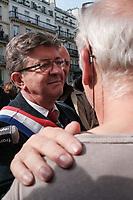 JEAN-LUC MELENCHON - MANIFESTATION DE LA FRANCE INSOUMISE A PARIS, FRANCE, LE 23/09/2017.