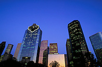 Houston skyline at dusk. Houston Texas.