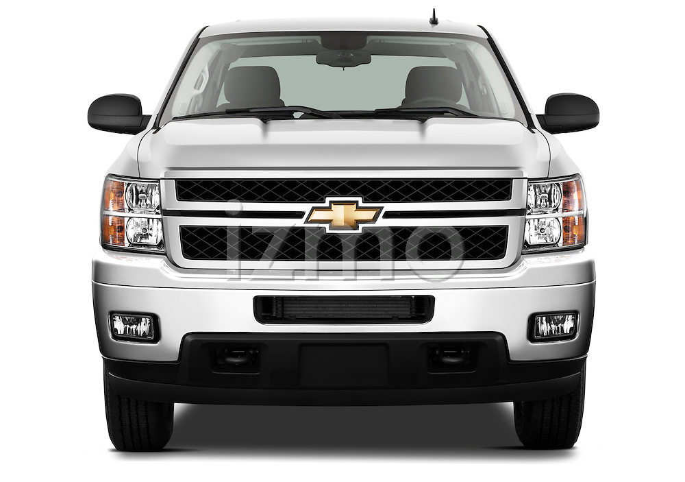 Straight front view of a 2011 Chevrolet Silverado 2500LT Crew Cab