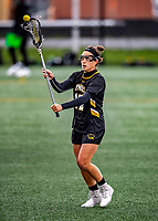 17 April 2021: UMBC Retriever Attacker Olivia Docal, a Senior from Glenwood, MD, in action against the University of Vermont Catamounts at Virtue Field in Burlington, Vermont. The Catamounts fell to the Retrievers 11-8 in the America East Women's Lacrosse matchup. Mandatory Credit: Ed Wolfstein Photo *** RAW (NEF) Image File Available ***