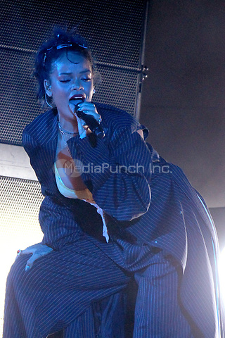 LOS ANGELES, CA - OCTOBER 24: Rihanna performs at the Third Annual We Can Survive benefit concert at The Hollywood Bowl in Los Angeles, California on October 24, 2015. Credit: mpi21/MediaPunch