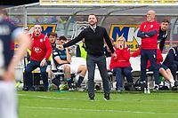 25th September 2021; Kilmac Stadium, Dundee, Scotland: Scottish Premiership football, Dundee versus Rangers; Dundee manager James McPake urges his team forward
