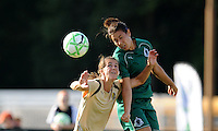 Stephanie Logterman.(green), Brandi Chastain...Saint Louis Athletica tied FC Gold Pride 1-1, at Anheuser-Busch Soccer Park, Fenton, MO.