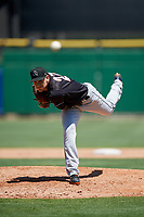 Jupiter Hammerheads relief pitcher Dylan Lee (27) delivers a pitch during a game against the Clearwater Threshers on April 11, 2018 at Spectrum Field in Clearwater, Florida.  Jupiter defeated Clearwater 6-4.  (Mike Janes/Four Seam Images)