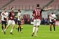 Milano 07-02-2021<br /> Stadio Giuseppe Meazza<br /> Serie A  Tim 2020/21<br /> Milan - Crotone nella foto:   Zlatan Ibraimovic esultanza                                                       <br /> Antonio Saia Kines Milano