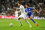 Real Madrid´s Cristiano Ronaldo and FC Shalke 04´s Leroy Sane during 2014-15 Champions League match between Real Madrid and FC Shalke 04 at Santiago Bernabeu stadium in Madrid, Spain. March 10, 2015. (ALTERPHOTOS/Luis Fernandez)