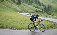 Tiesj Benoot (BEL/DSM) descending the Col de la Colombière (1618 m)<br /> <br /> Stage 8 from Oyonnax to Le Grand-Bornand (151km)<br /> 108th Tour de France 2021 (2.UWT)<br /> <br /> ©kramon