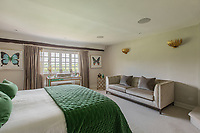 BNPS.co.uk (01202) 558833. <br /> Pic: Savills/BNPS<br /> <br /> Pictured: Bedroom. <br /> <br /> A wheely rare opportunity...<br /> <br /> A grand country manor with a 300-year-old donkey wheel is on the market for £4.95m.<br /> <br /> The donkey wheel at Annables Manor, one of only two still in existence in England, was built in the 17th century and used to draw water from the 145ft well.<br /> <br /> The Grade II listed manor house near Harpenden, Herts, is one of the finest country houses in the area and as well as its unusual historic feature it has a heated swimming pool and tennis court in its 5.34 acres of land.<br /> <br /> The seven-bedroom home has lots of impressive features including oak beams, open fireplaces and solid oak floors.