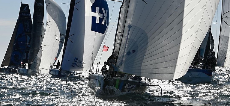 Serious stuff. The Figaro 3 Championship in the Spi Ouest Regatta