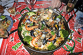 Kingston upon Thames, Surrey. England. Christmas day dinner Paella.