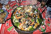 Kingston upon Thames, Surrey. England. Christmas day dinner Paella.
