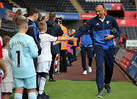 Heurelho Gomes of Watford arrives prior to the game during the Premier League match between Swansea City and Watford at The Liberty Stadium, Swansea, Wales, UK. Saturday 23 September 2017