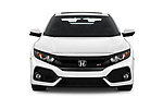 Car photography straight front view of a 2019 Honda Civic-Si-Coupe - 2 Door Coupe Front View