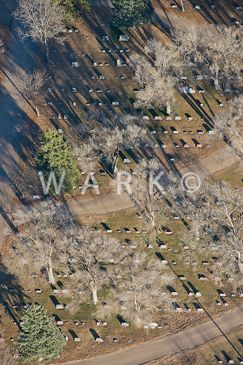 Aerial view of LaJunta, Colorado cemetery. Nov 2012