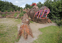 Pictured: The mythical beast sculpture by artist Gwen Heeney Saturday 13 August 2016<br />