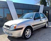 BNPS.co.uk (01202 558833)<br /> Pic: HampsonAuctions/BNPS<br /> <br /> Pictured: 2001 Ford Fiesta 1.3.<br /> <br /> Since the 1990s, Geoff Barlow, 46, has collected dozens of classic cars from an Escort Mexico replica to several types of Transit, Cortina, and Sierra.<br /> <br /> However, he still regrets selling the first car which inspired his passion, a 1980 Escort Mark 2 he bought from his sister in 1992.  <br /> <br /> Geoff's fascination with Fords gathered pace in the last decade and he 'lost control,' buying as many Fords as he came across and saving them from disrepair.