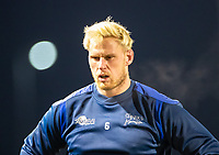12th February 2021; AJ Bell Stadium, Salford, Lancashire, England; English Premiership Rugby, Sale Sharks versus Bath;  Jean-Luc du Preez of Sale Sharks prepares for the game against Bath