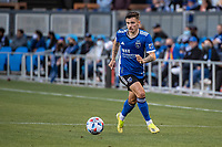 SAN JOSE, CA - MAY 15: Paul Marie #3 of the San Jose Earthquakes dribbles the ball during a game between San Jose Earthquakes and Portland Timbers at PayPal Park on May 15, 2021 in San Jose, California.