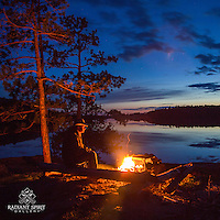 """""""Spring Campfire on Basswood Lake"""""""