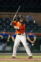 AZL Giants shortstop Nico Giarratano (9) at bat against the AZL Rangers on September 4, 2017 at Scottsdale Stadium in Scottsdale, Arizona. AZL Giants defeated the AZL Rangers 6-5 to advance to the Arizona League Championship Series. (Zachary Lucy/Four Seam Images)
