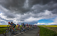 Picture by Alex Whitehead/SWpix.com - 30/04/2016 - Cycling - Tour de Yorkshire, Stage 2: Otley to Doncaster - Yorkshire, England - The peloton in action.