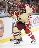 Chris Kreider (BC - 19), Max Nicastro (BU - 7) - The Boston College Eagles defeated the Boston University Terriers 3-2 (OT) to win the 2012 Beanpot championship on Monday, February 13, 2012, at TD Garden in Boston, Massachusetts.