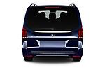 Straight rear view of 2021 Mercedes Benz EQV - 5 Door Passanger Van Rear View  stock images