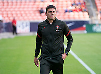 HOUSTON, TX - JUNE 13: Neto Francisco of Portugal walks onto the field before a game between Nigeria and Portugal at BBVA Stadium on June 13, 2021 in Houston, Texas.