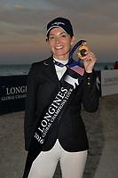 MIAMI BEACH, FL - APRIL 09: (EXCLUSIVE COVERAGE) Edwina Tops-Alexander wins the Longines Global Champions Tour stop in Miami Beach on April 9, 2016 in Miami Beach, Florida.<br /> <br /> <br /> People:  Edwina Tops-Alexander