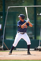 GCL Braves first baseman Griffin Benson (80) at bat during a game against the GCL Blue Jays on August 5, 2016 at ESPN Wide World of Sports in Orlando, Florida.  GCL Braves defeated the GCL Blue Jays 9-0.  (Mike Janes/Four Seam Images)