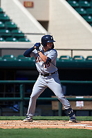 Detroit Tigers Spencer Torkelson (19) bats during a Florida Instructional League intrasquad game on October 17, 2020 at Joker Marchant Stadium in Lakeland, Florida.  (Mike Janes/Four Seam Images)