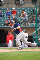 Toledo Mudhens catcher Miguel Gonzalez (13) at bat during a game against the Rochester Red Wings on June 12, 2016 at Frontier Field in Rochester, New York.  Rochester defeated Toledo 9-7.  (Mike Janes/Four Seam Images)