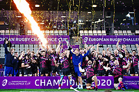 16th October 2020, Stade Maurice David, Aix-en-Provence, France;  Challenge Cup Rugby Final Bristol Bears versus RC Toulon; Celebrations from Bristol Bears as Pat Lam (Bristol Bears) lifts the trophy
