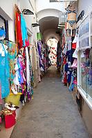 The fashion shops of Positano, Amalfi coast, Italy