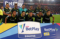 BOGOTA-COLOMBIA, 08-03-2020: Jugadores de Atletico Nacional, posan para una foto, antes de partido de la fecha 8 entre Independiente Santa Fe y Atletico Nacional, por la Liga BetPLay DIMAYOR I 2020, en el estadio Nemesio Camacho El Campin de la ciudad de Bogota. / Players of Atletico Nacional, pose for a photo prior a match of the 8th date between Independiente Santa Fe and Atletico Nacional, for the BetPlay DIMAYOR I Leguaje 2020 at the Nemesio Camacho El Campin Stadium in Bogota city. / Photo: VizzorImage / Daniel Garzon / Cont.