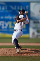 Lynchburg Hillcats relief pitcher Zach Hart (10) in action against the Myrtle Beach Pelicans at Bank of the James Stadium on May 23, 2021 in Lynchburg, Virginia. (Brian Westerholt/Four Seam Images)