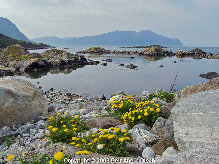 View of the sea from the aquarium outside Aalesund, Norwway