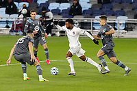 ST PAUL, MN - NOVEMBER 22: Kellyn Acosta #10 of Colorado Rapids  moves the ball during a game between Colorado Rapids and Minnesota United FC at Allianz Field on November 22, 2020 in St Paul, Minnesota.