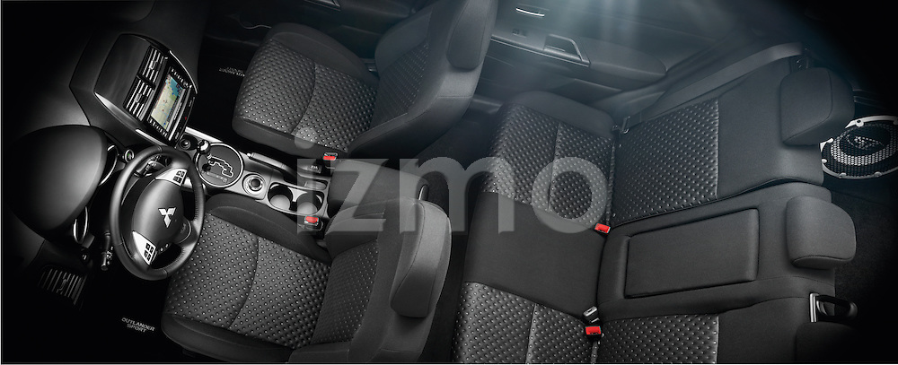 High angle cut away view of a 2012 Mitsubishi Outlander Sport
