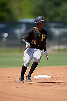 Pittsburgh Pirates shortstop Alfredo Reyes (30) runs the bases during a minor league Spring Training game against the Philadelphia Phillies on March 24, 2017 at Carpenter Complex in Clearwater, Florida.  (Mike Janes/Four Seam Images)
