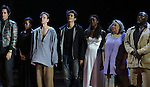"""Christian Carmargo, Roslyn Ruff, Brent Carver, Orlando Bloom, Condola Rashad, Jayne Houdyshell and Chuck Cooper and the ensemble cast during the """"Romeo And Juliet"""" On Broadway First Performance Curtain Call at the Richard Rodgers Theatre in New York City on 8/24/2013 during the """"Romeo And Juliet"""" On Broadway First Performance Curtain Call at the Richard Rodgers Theatre in New York City on 8/24/2013"""