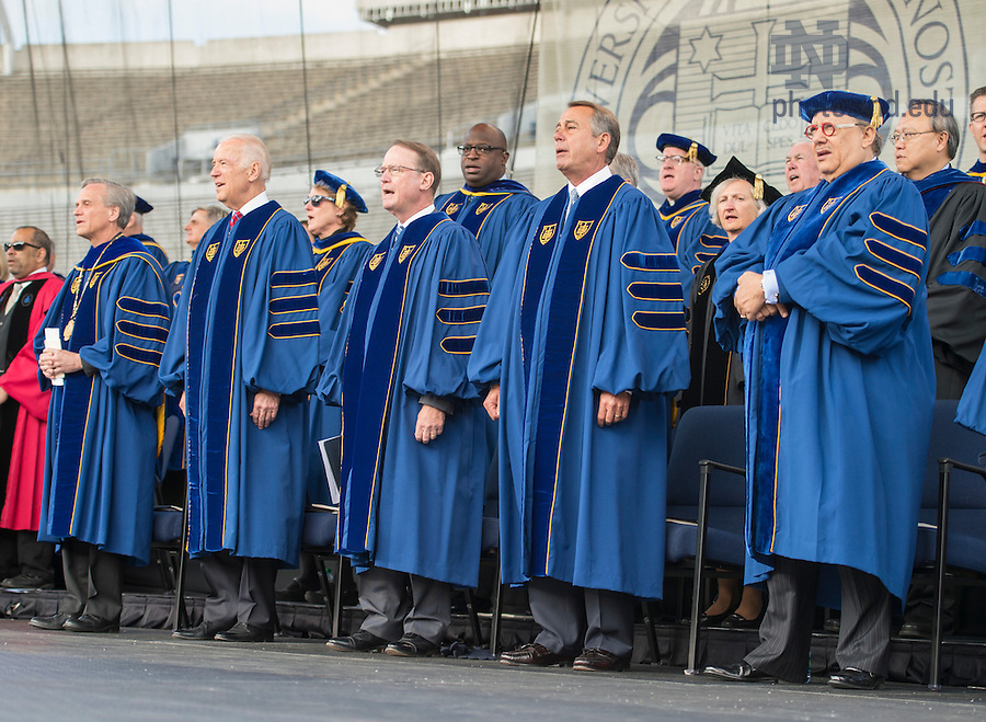 May 15, 2016; ]2016 Commencement ceremony at Notre Dame Stadium. (Photo by Barbara Johnston/University of Notre Dame)