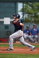 Cleveland Indians Jack Goihl (9) during an instructional league game against the Los Angeles Dodgers on October 15, 2015 at the Goodyear Ballpark Complex in Goodyear, Arizona.  (Mike Janes/Four Seam Images)