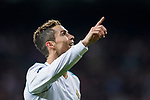Cristiano Ronaldo of Real Madrid celebrates during the UEFA Champions League 2017-18 Round of 16 (1st leg) match between Real Madrid vs Paris Saint Germain at Estadio Santiago Bernabeu on February 14 2018 in Madrid, Spain. Photo by Diego Souto / Power Sport Images