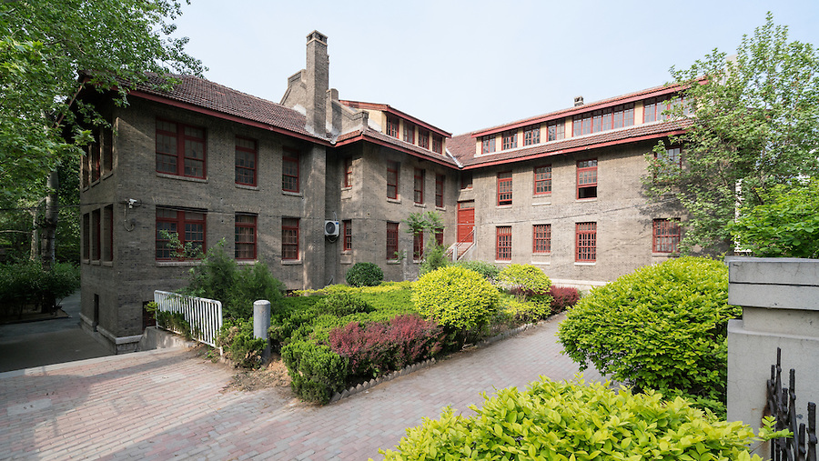 The Shadyside Hospital Building (rear) Which Houses The Weihsien Camp Museum. Weifang.