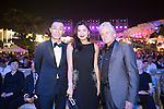 (L-R) Pakho Chau, Gaile Lai and Michael Douglas during the Opening Ceremony of the the World Celebrity Pro-Am 2016 Mission Hills China Golf Tournament on 20 October 2016, in Haikou, China. Photo by Weixiang Lim / Power Sport Images