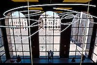 Milano, il Museo del Novecento al Palazzo dell'Arengario. Vista su piazza Duomo --- Milan, the Museum of Twentieth Century in the Arengario palace. View over Duomo square